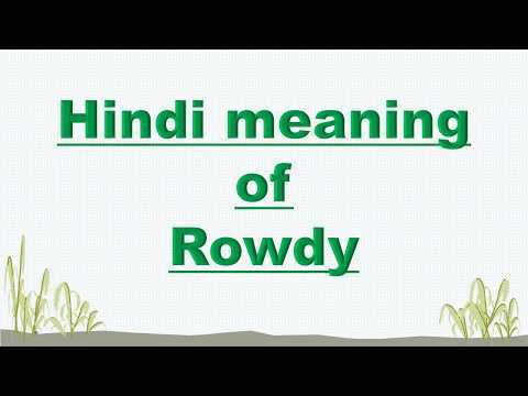 Hindi meaning of Rowdy
