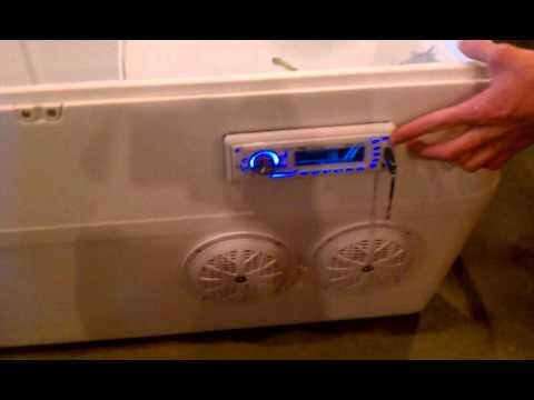 Homemade stereo cooler