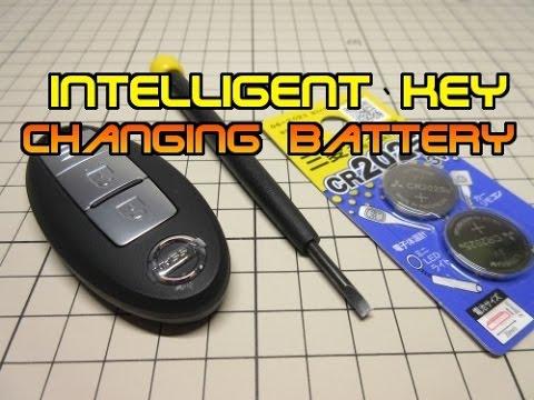 nissan Intelligent key  changing battery