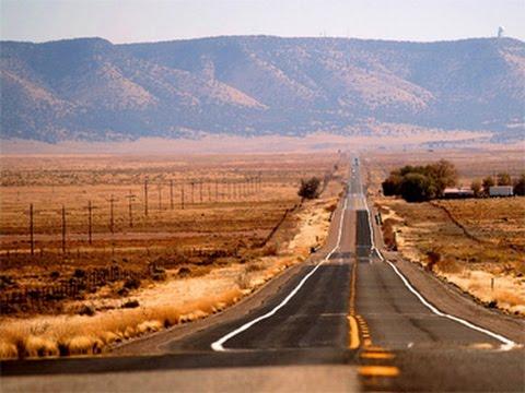 L'Ouest Américain en Harley Davidson, la Route 66 en direction de Grand Canyon.