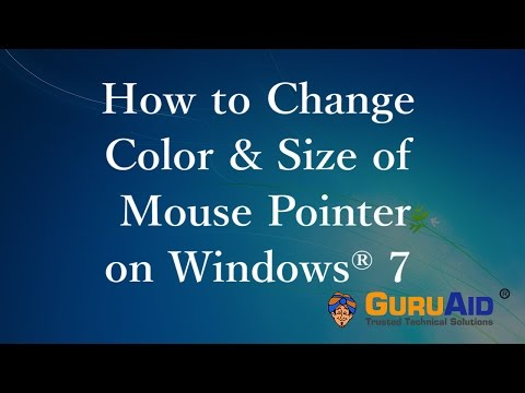 How to Change Color & Size of Mouse Pointer on Windows® 7 - GuruAid