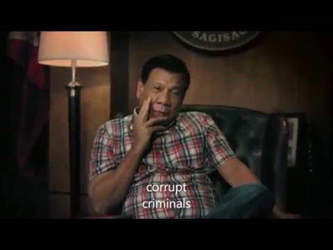 Duterte's Christmas Greeting for 2015 with English Subtitles