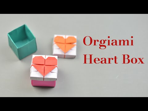 Origami Heart Box with Lid Instruction | Easy DIY