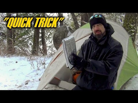 How To Stay Warm With A Car Sunshade - Quick Trick