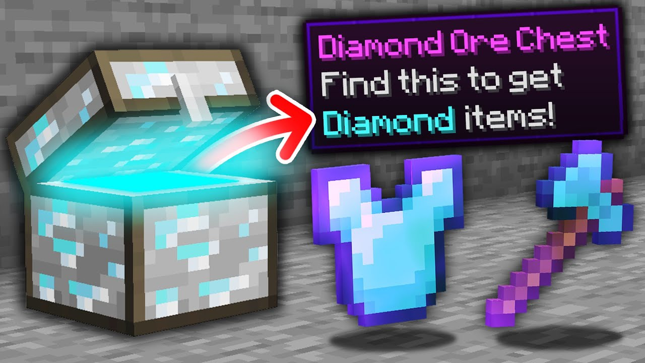 Minecraft, But Every Ore Is A Chest