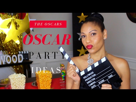 Oscars Party Ideas | DIYs, Decorations, Food & more...