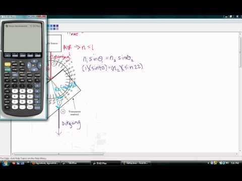 Finding the Index of Refraction for Unknown Material.avi