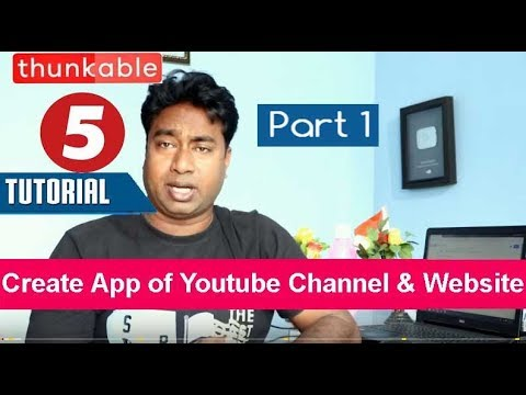 Create Android app of YouTube Channel or Website in just 5 minutes using API & Thunkable Part 1