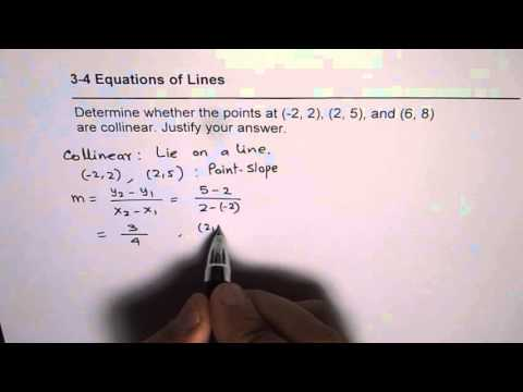 How to Show that Three Points are Collinear or Not