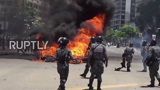 Venezuela: Violent clashes erupt in Caracas on day of election