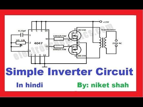 Simple Inverter Circuit making in hindi