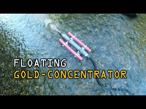 Floating Gold Concentrator with manual pump