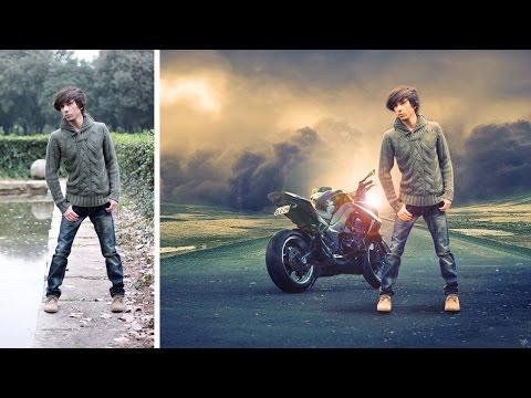 Changeing background and soft light effect   photoshop manipulation  tutorial