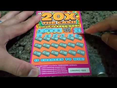 Playing 20X the Cash!! New $5 California Lottery Scratcher Card