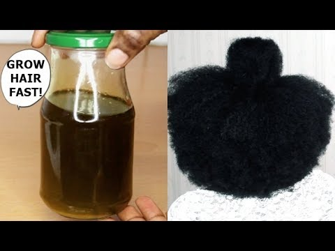 YOUR HAIR WILL GROW LIKE CRAZY IF YOU USE THIS OIL - GROW HAIR Long, Thick & Healthy FAST!