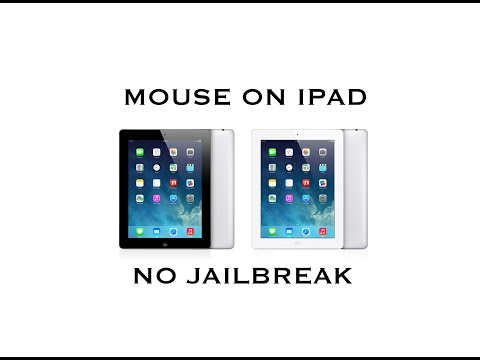 How to use a wireless mouse on an iPad: NO JAILBREAK