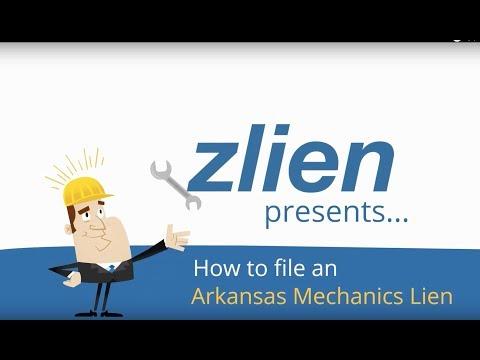 How To File An Arkansas Mechanics Lien