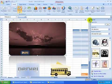 5) MS Excel 2007 (Bangla Tutorial)::Hyperlink,Insert Picture,Table,Symbol,Header, Footer,Text Box