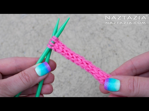 How to Knit an I-Cord - Knitted I Cord ICord - Using Double Point Straight and Circular Needles
