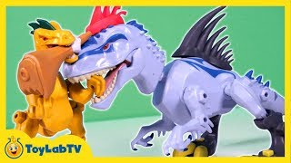 Jurassic World Toys Indominus Rex vs Velociraptor Mash Pack from Hero Mashers