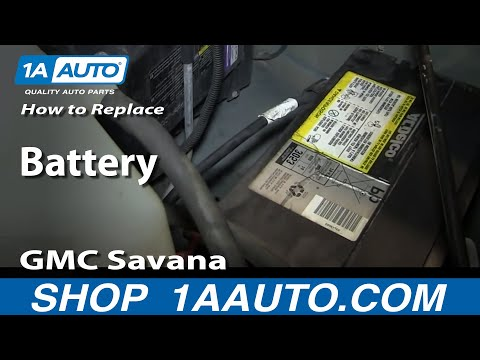 How To Install Replace Battery GMC Savana Chevy Express