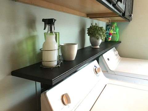 Laundry Room Organization - Quick Access Shelf