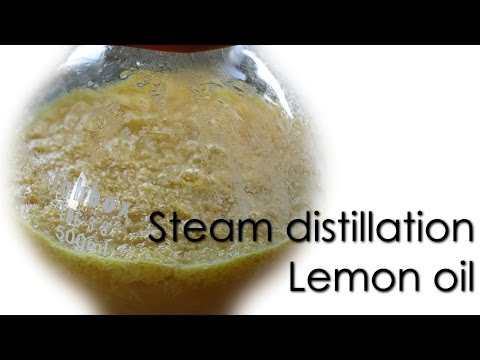 Steam distillation - Lemon essential oil