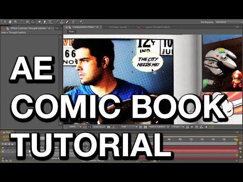 Make a Comic Book Intro in After Effects | Animation