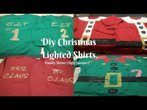 Diy Christmas lighted shirts (Ugly X-mas sweater)
