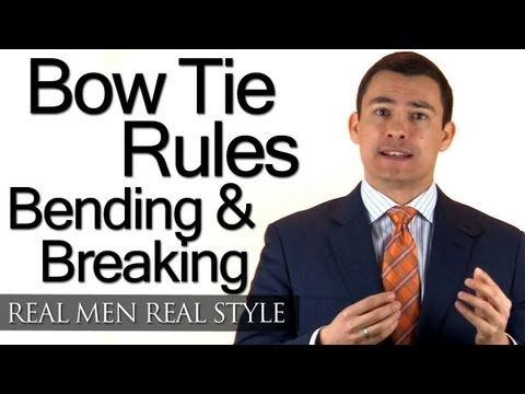 Black Tie Bow Tie Rules - Understand How To Bend and Break Style Rules - Male Fashion Tips