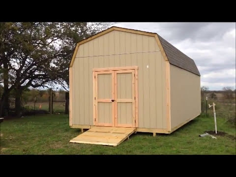 Building a Tall Lofted Storage Barn