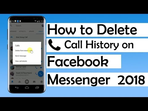 How to Delete Call History on Facebook Messenger 2018