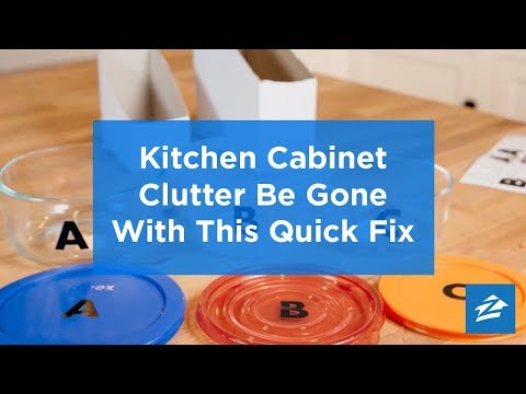 Quick Fix for Kitchen Cabinet Clutter