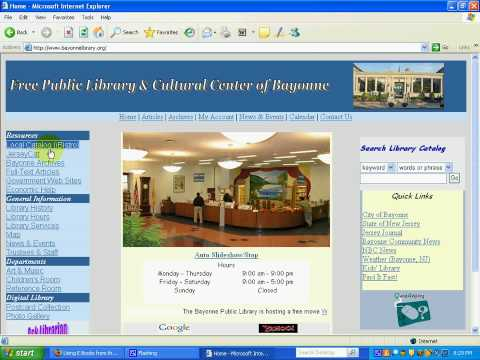 Using eBooks from the library catalog