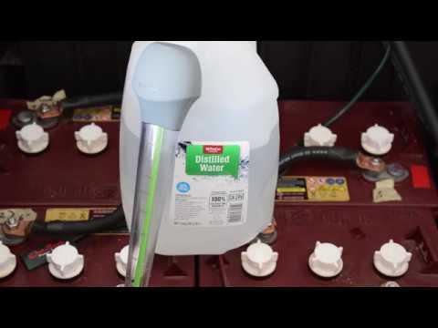 Solar Battery Bank Water Maintenance