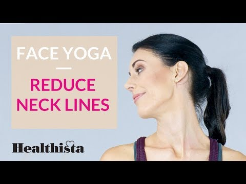 Reduce neck lines with this 3 minute face yoga sequence