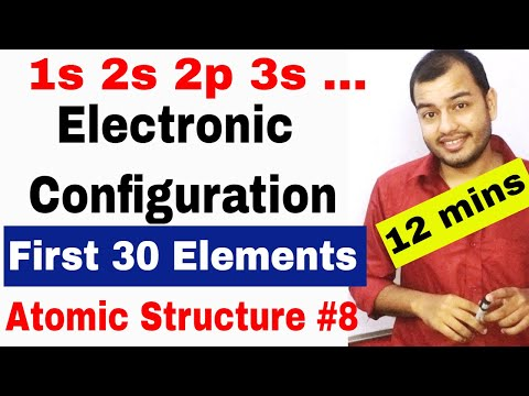 How To do Electronic Configuration || Atomic Structure 08 || Electronic Configuration ||spdf