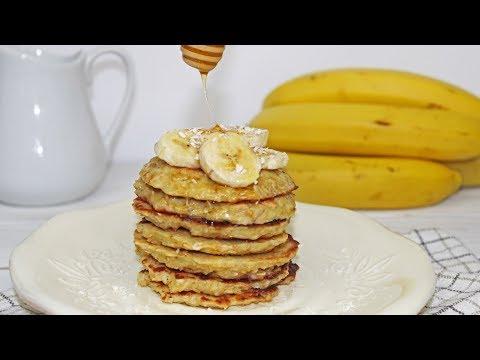 Banana Oatmeal Pancakes | Healthy Breakfast
