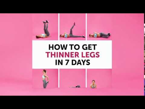 How To Get Thinner Legs In 7 Days