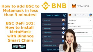 BSC DeFi 101: How to install MetaMask with Binance Smart Chain