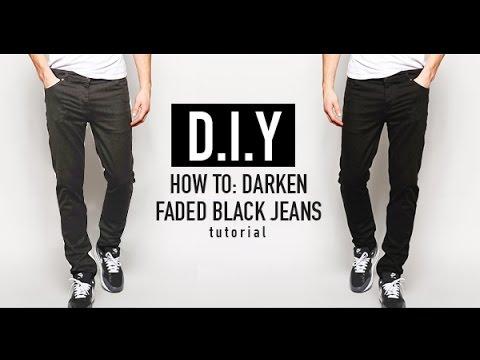 HOW TO: RE-DYE FADED BLACK JEANS (D.I.Y TUTORIAL) | JAIRWOO