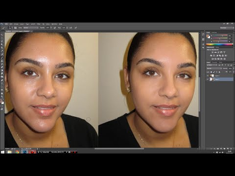 Easy Photoshop tips: Mattify shiny skin