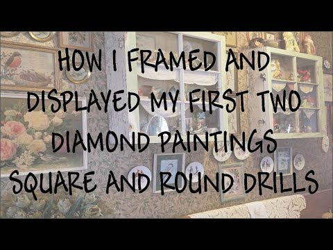 Diamond Painting Round And Square Drills How I Framed Them