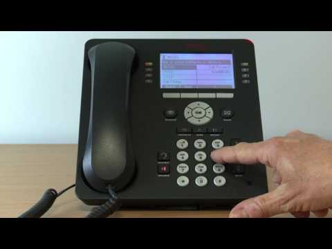 20. Avaya Telephone System - How to Call Forward on the 9608