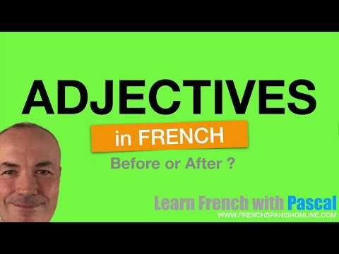 Learn French: Adjectives in French before after