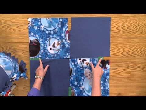 Disney's Frozen No-Sew Fleece Blanket tutorial – Fons & Porter exclusive