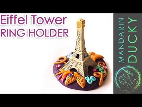 DIY: EIFFEL TOWER RING HOLDER from Polymer Clay