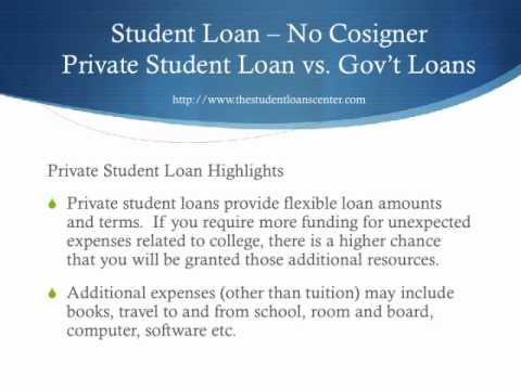 The Student Loans Center - Student Loan No Cosigner Video Tutorial 2