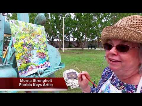 Keys Artist Honored with Permanent Working Outdoor Easel