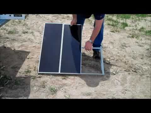 Solar Pump installation for our irrigation system